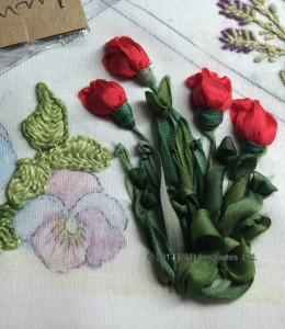 Silk Ribbon Tulips